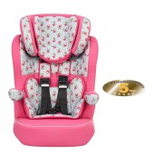Obaby Group 123 High Back Booster Car Seat - Cottage Rose