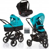 ABC Design Cobra 3 in 1 Travel System & Carrycot - Black / Coral