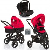 ABC Design Cobra 3 in 1 Travel System & Carrycot - Black / Cranberry