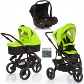 ABC Design Cobra 3 in 1 Travel System & Carrycot - Black / Lime