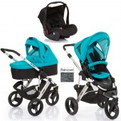 ABC Design Cobra 3 in 1 Travel System & Carrycot - Silver / Coral
