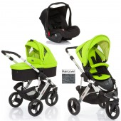 ABC Design Cobra 3 in 1 Travel System & Carrycot - Silver / Lime