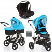 ABC Design Cobra 3 in 1 Travel System & Carrycot - Silver / Rio