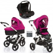 ABC Design Cobra 3 in 1 Travel System & Carrycot - Silver / Grape