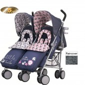 Obaby Leto Plus Twin Stroller - Little Cutie / Sailor