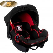 Obaby Group 0+ Infant Carrier Car Seat - B Is For Bear Red