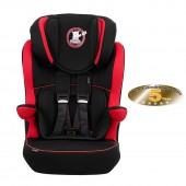 Obaby Group 123 High Back Booster Car Seat - B Is For Bear Red