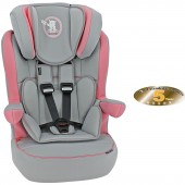 Obaby Group 123 High Back Booster Car Seat - B Is For Bear Pink