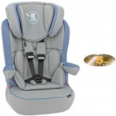 Obaby Group 123 High Back Booster Car Seat - B Is For Bear Blue