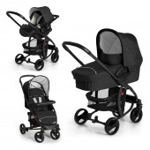 Hauck Miami 4 S Trio Set Travel System - Caviar / Silver
