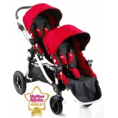 Baby Jogger City Select Tandem Stroller Pushchair - Ruby