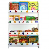4baby Childrens Alphabet Bookcase / Storage/ Organiser - White
