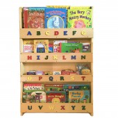 4baby Childrens Alphabet Bookcase / Storage / Organiser - Beech