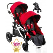 Baby Jogger City Select Tandem Stroller - Ruby Red