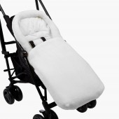 Clair De Lune Plush Pushchair Footmuff -  White