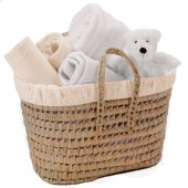 Clair De Lune Polly Waffle Nursery Basket - Cream